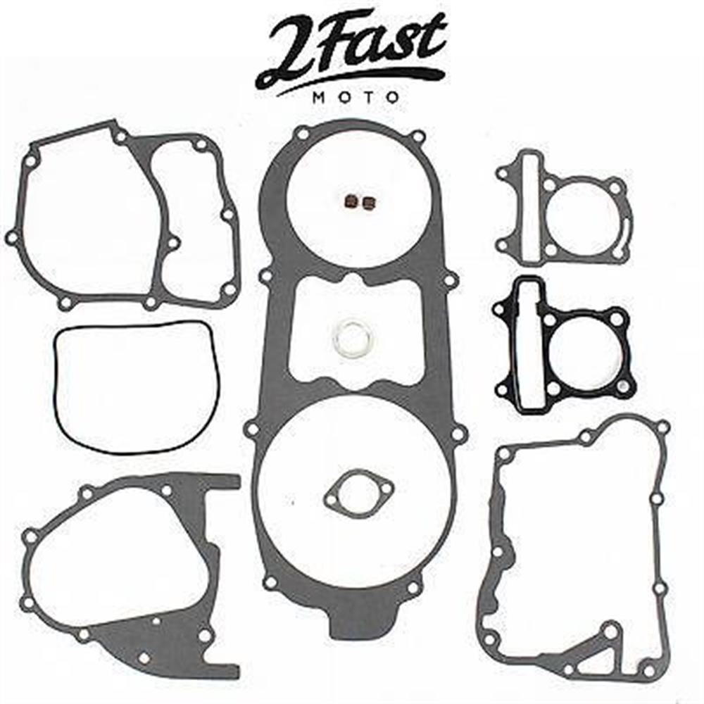 2FastMoto Replacement GY6 Gasket Set 125cc 150cc Short Case Scooter Moped