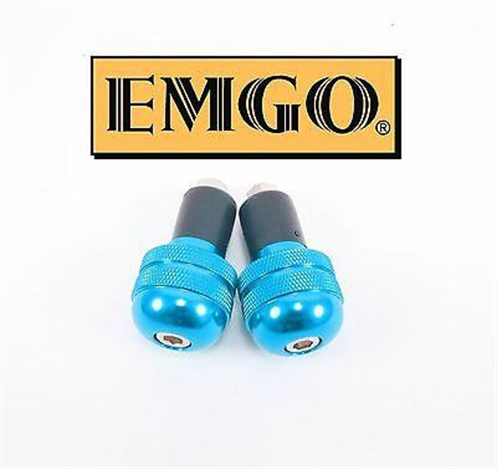 2FastMoto Blue Aluminum Bar Ends Anti Vibration Pair 7/8