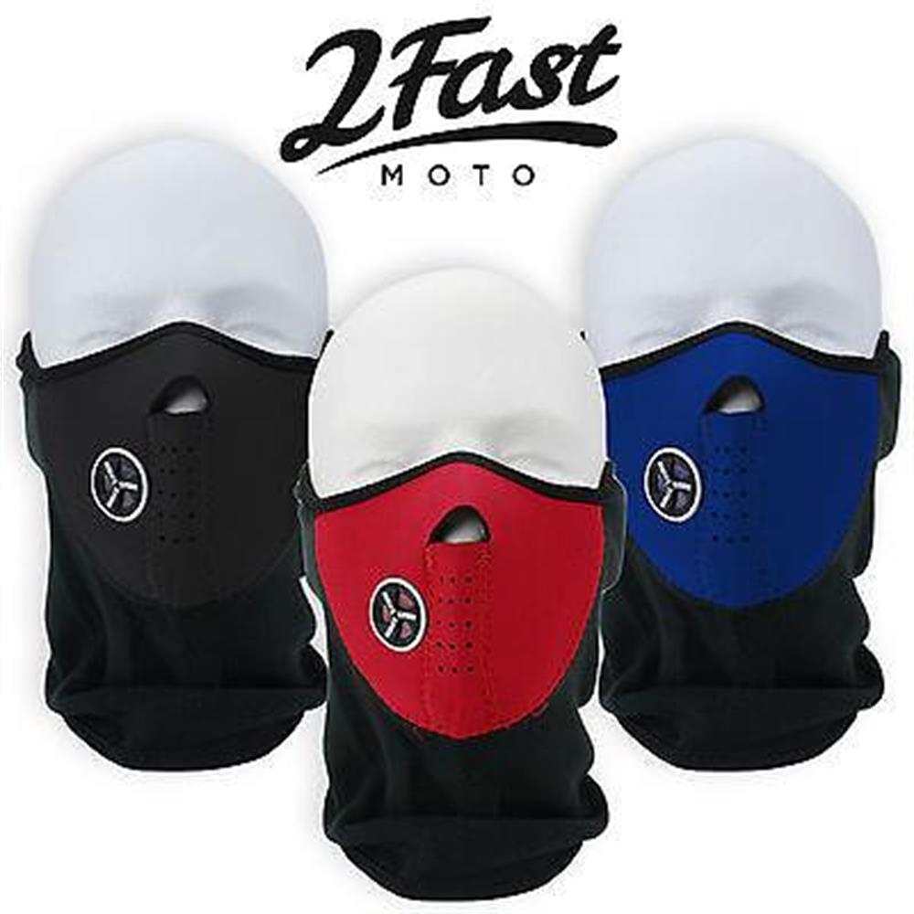 Red Half Face Fleece & Neoprene Mask With Mesh Ventilation Dirtbike Husqvarna