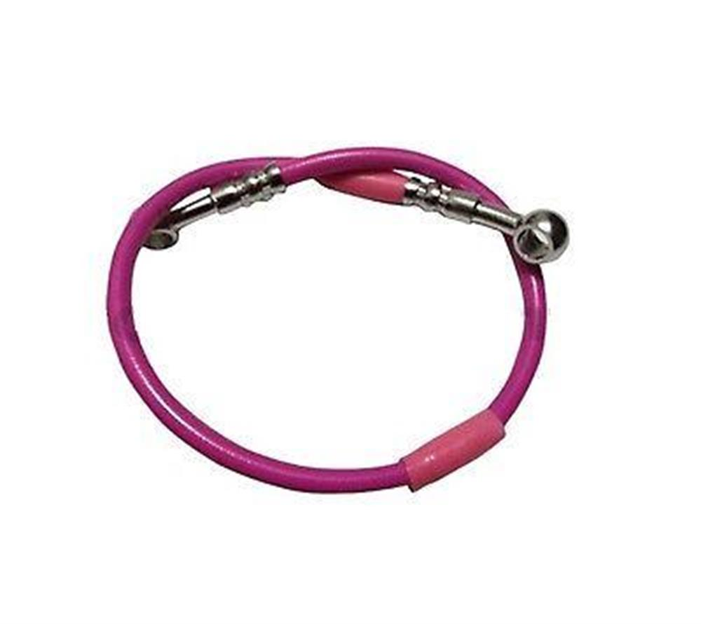 Motorcycle Brake Line Hose PINK Braided 20