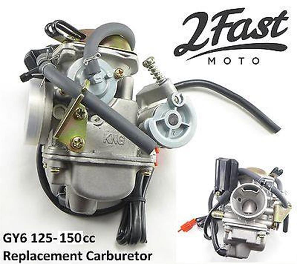 GY6 Carb Carburetor 125cc 150cc 4 Stroke Engines Seaseng Qlink Yiben Jonway