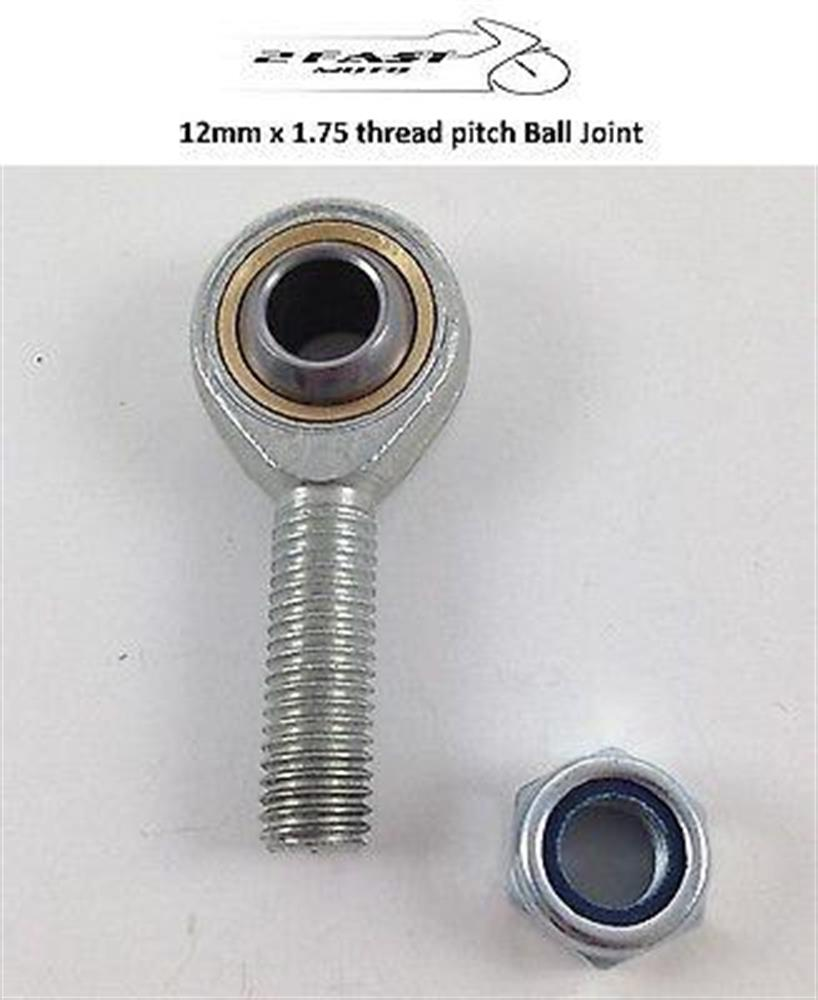 2FastMoto Univ Ball Joint 12mm 1.75 Thread Pitch Right Hand Motorcycle ATV MX