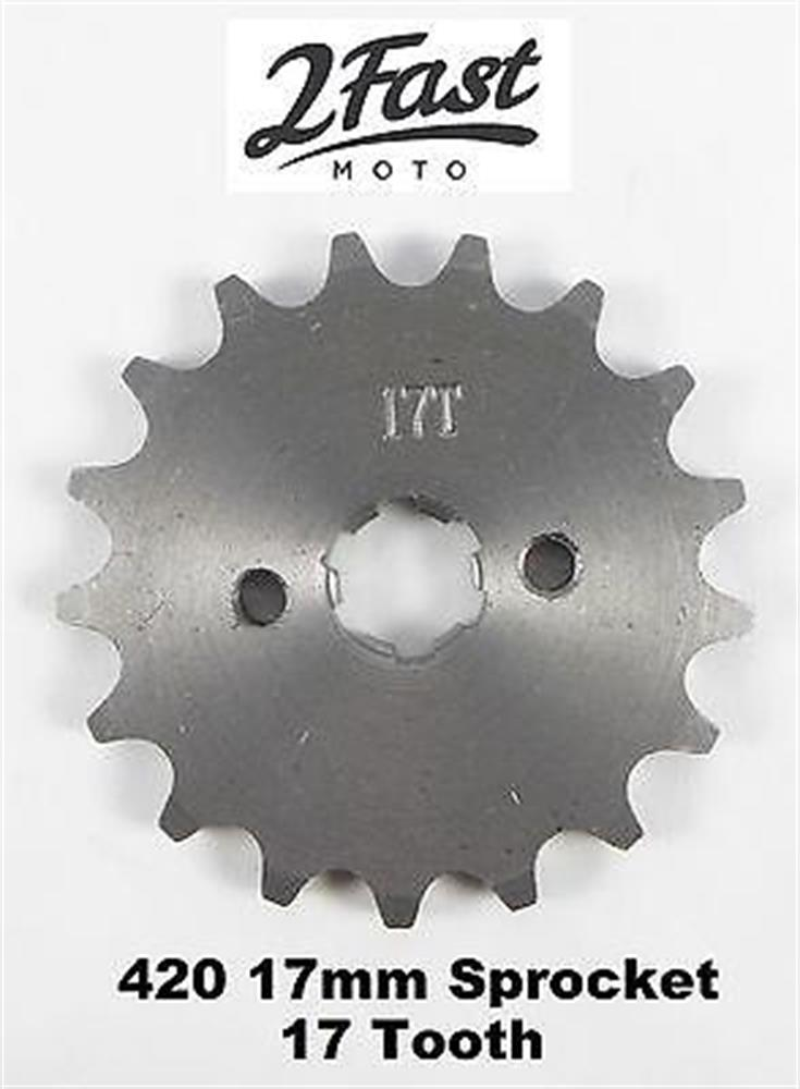 2FastMoto Countershaft Sprocket 17mm Engine 17 Tooth 420 Chain Honda