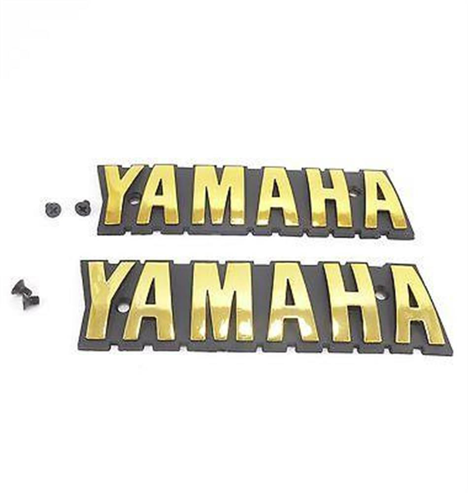 Yamaha Emblems Badges Gold BR250T BR250 BR250TS Bravo LT Snowmobile BR 250 NEW