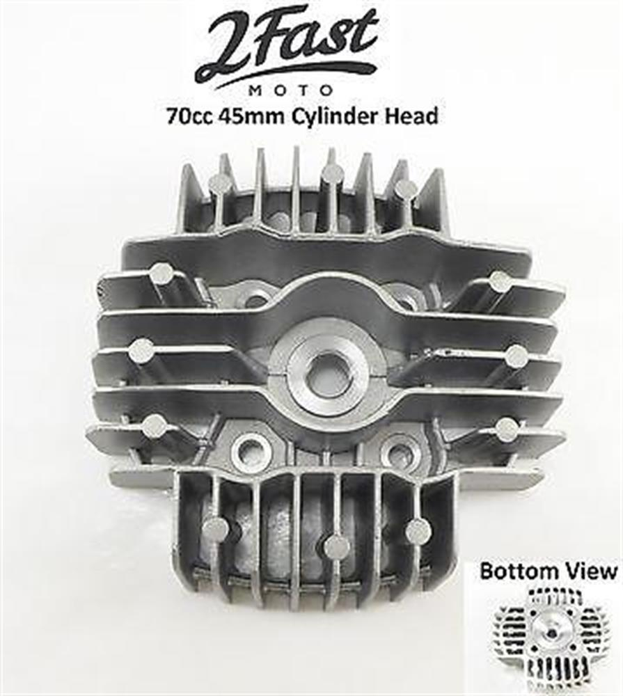 2FastMoto Tomos 70cc Big Bore 45mm Cylinder Head A-55 Targa LX Sprint ST E50