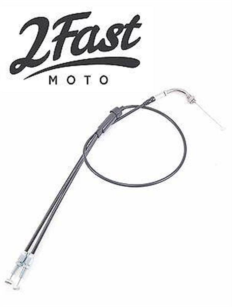2FastMoto Honda Upper & Lower Throttle Cable CB350 CB 350 Silver Elbow