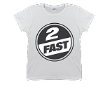2 FAST BRANDS - CIRCLE LOGO - WOMENS T-SHIRT