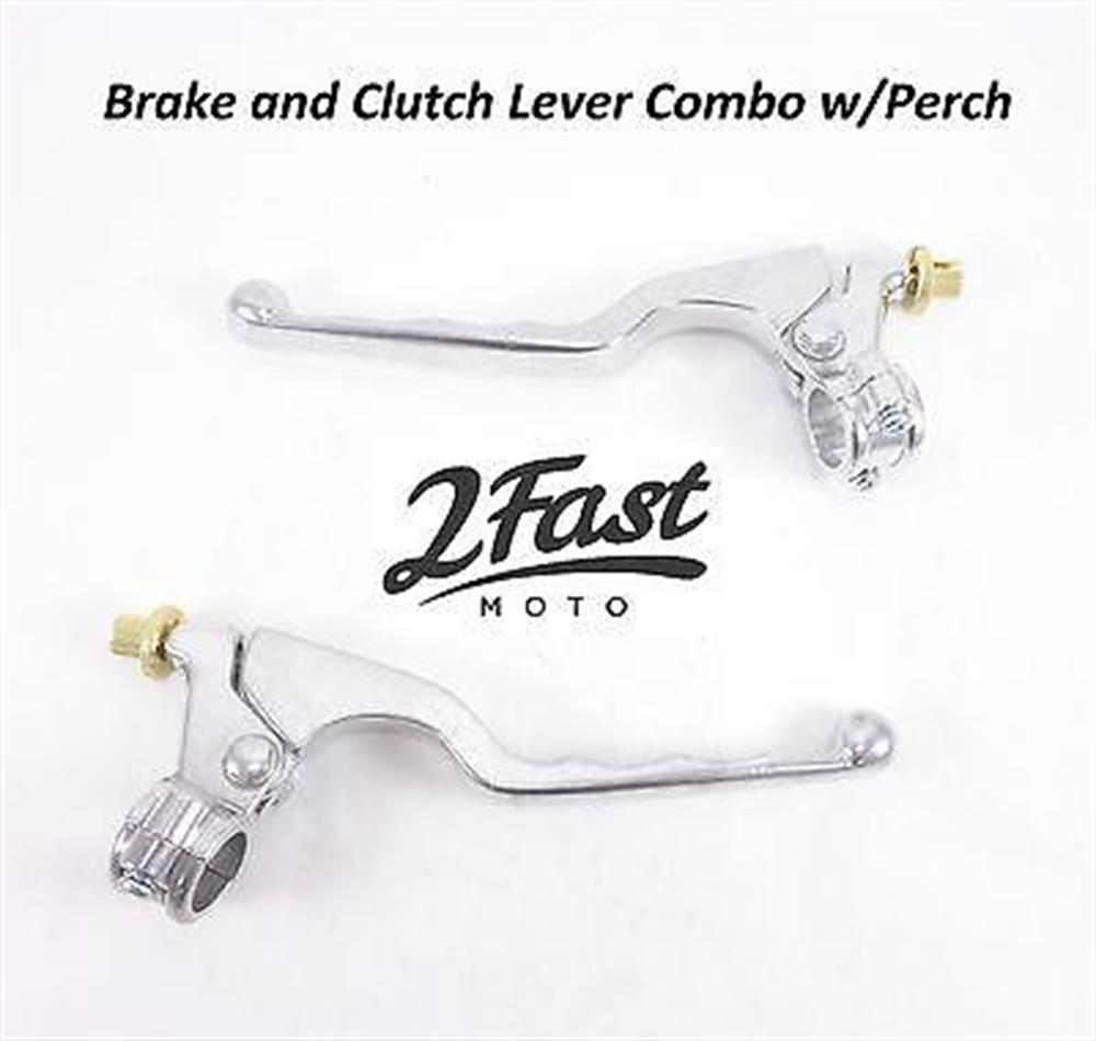 2FastMoto Clutch Brake Lever Set Combo w/ Perch 4 Wheeler ATV Fits Most Models