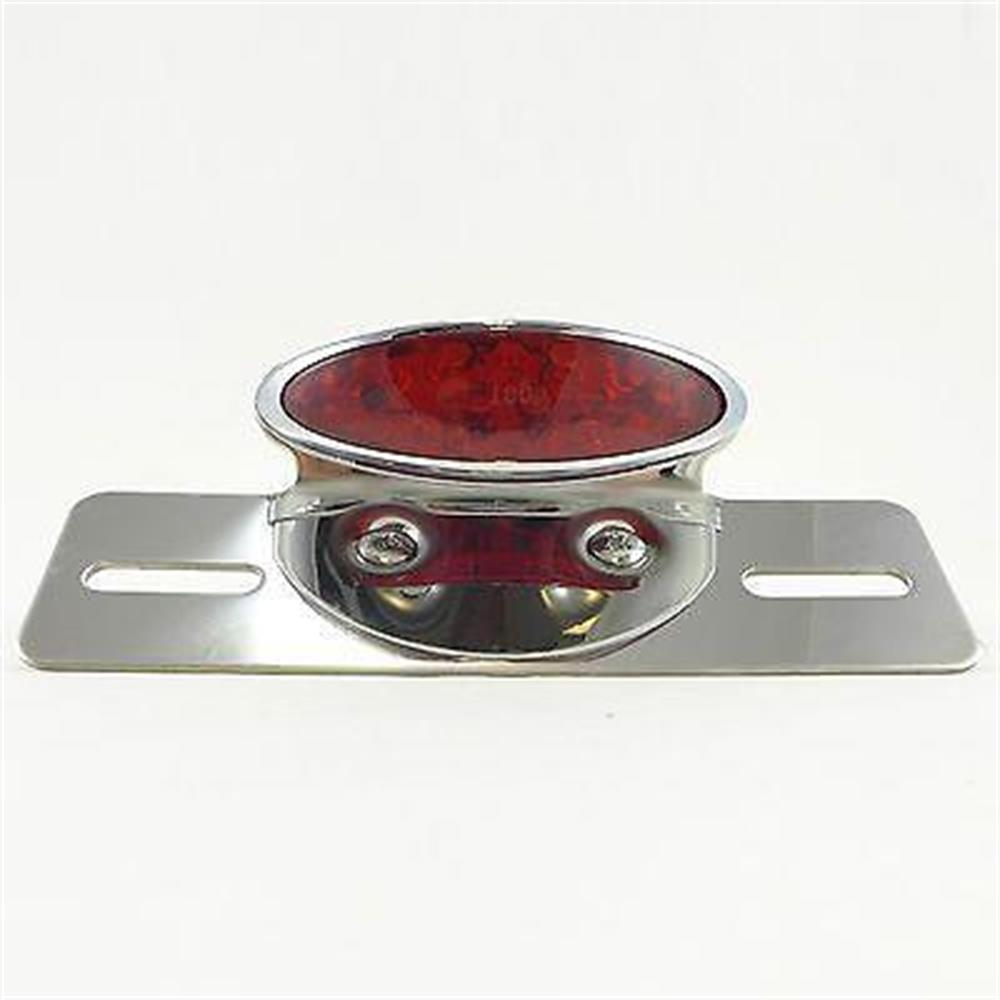Motorcycle Rear Brake Light License Plate Bracket Scooter Moped Vespa Tail Light