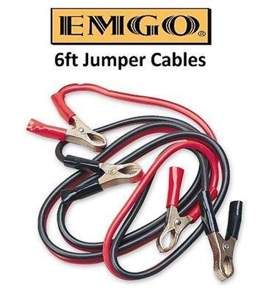 2fastmoto 6 Foot Battery Jumper Cables Motorcycle Chopper