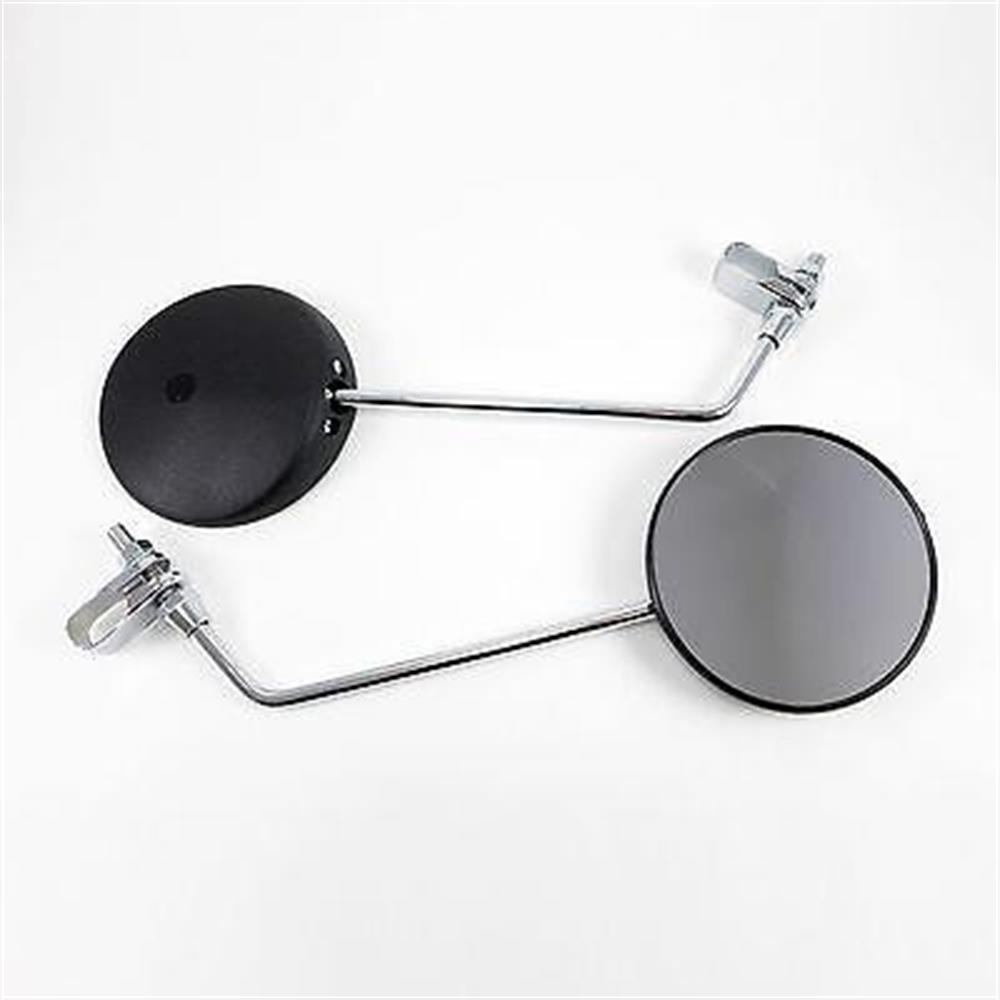 8mm Stem Round Mirrors With Handlebar Mounts 2FastMoto Harley Davidson Chopper