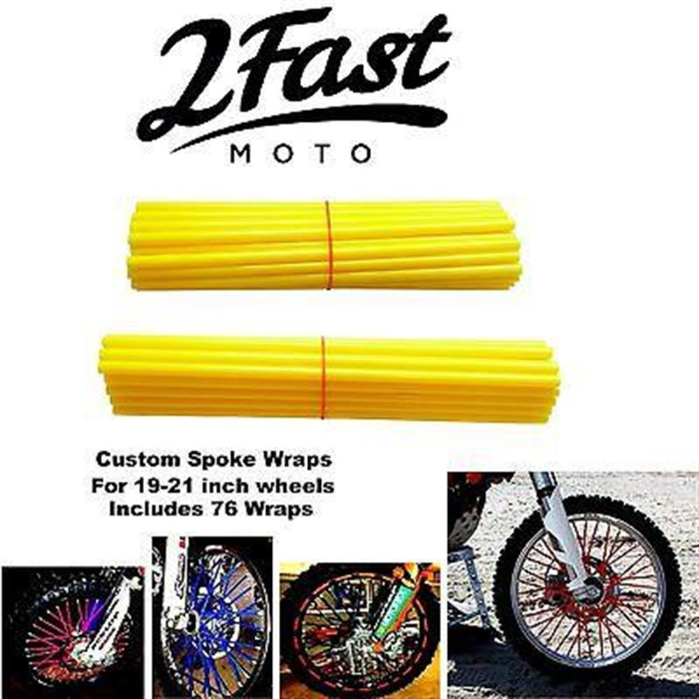 2FastMoto Spoke Wrap Kit Golden Yellow Custom Color Spokes Wraps Colors Honda