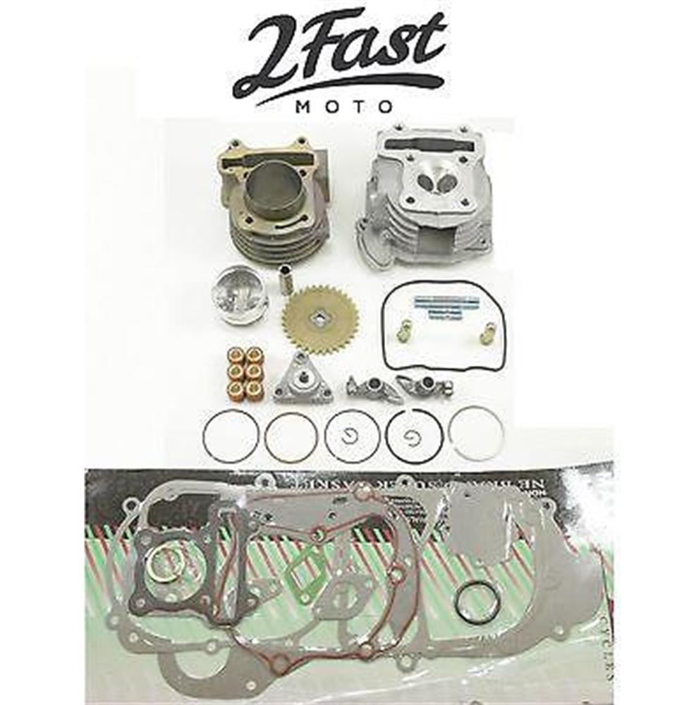 2FastMoto GY6 100cc Big Bore Kit Scooter Piston Cylinder Head Gasket Set
