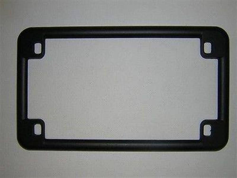BLACK MOTORCYCLE LICENSE PLATE FRAME for Honda Kawasaki Suzuki Yamaha NEW