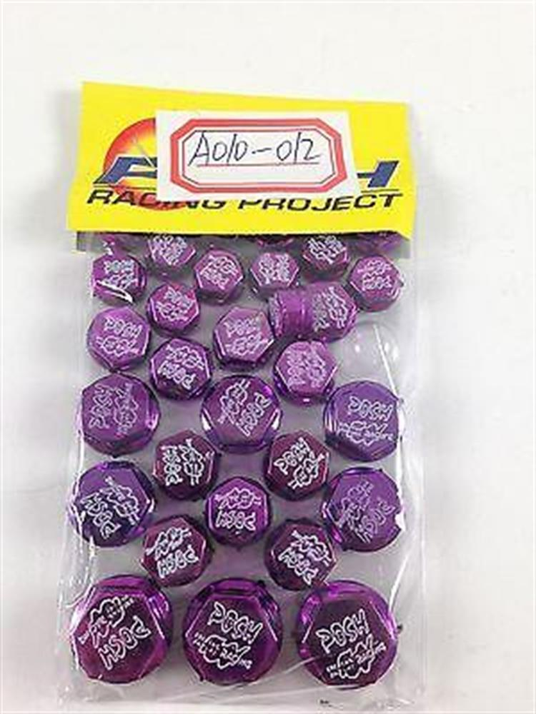 30 Piece Purple Plastic Bolt Screw Decorative Caps Motorcycle Harley Davidson