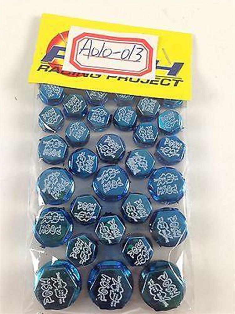 30 Piece Blue Plastic Bolt Screw Decorative Caps Motorcycle Honda