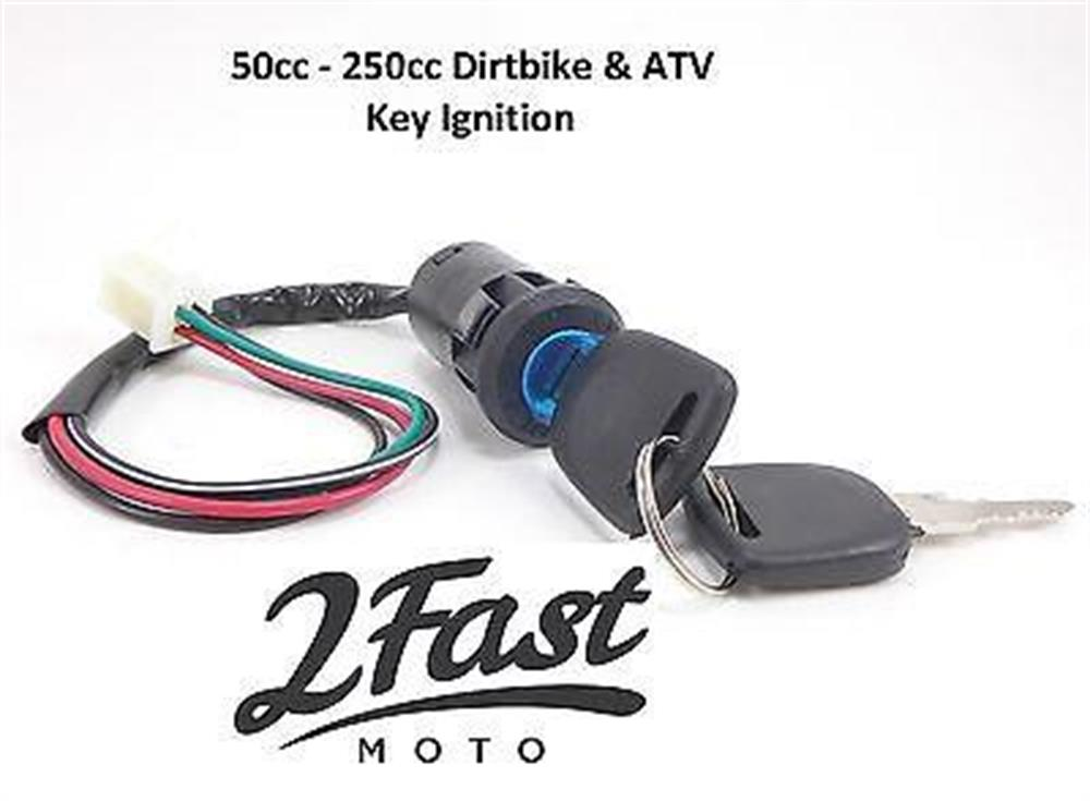 Ignition Switch Keys 4 Wire ETON Viper Sierra Impuls Rascal 50CC ...