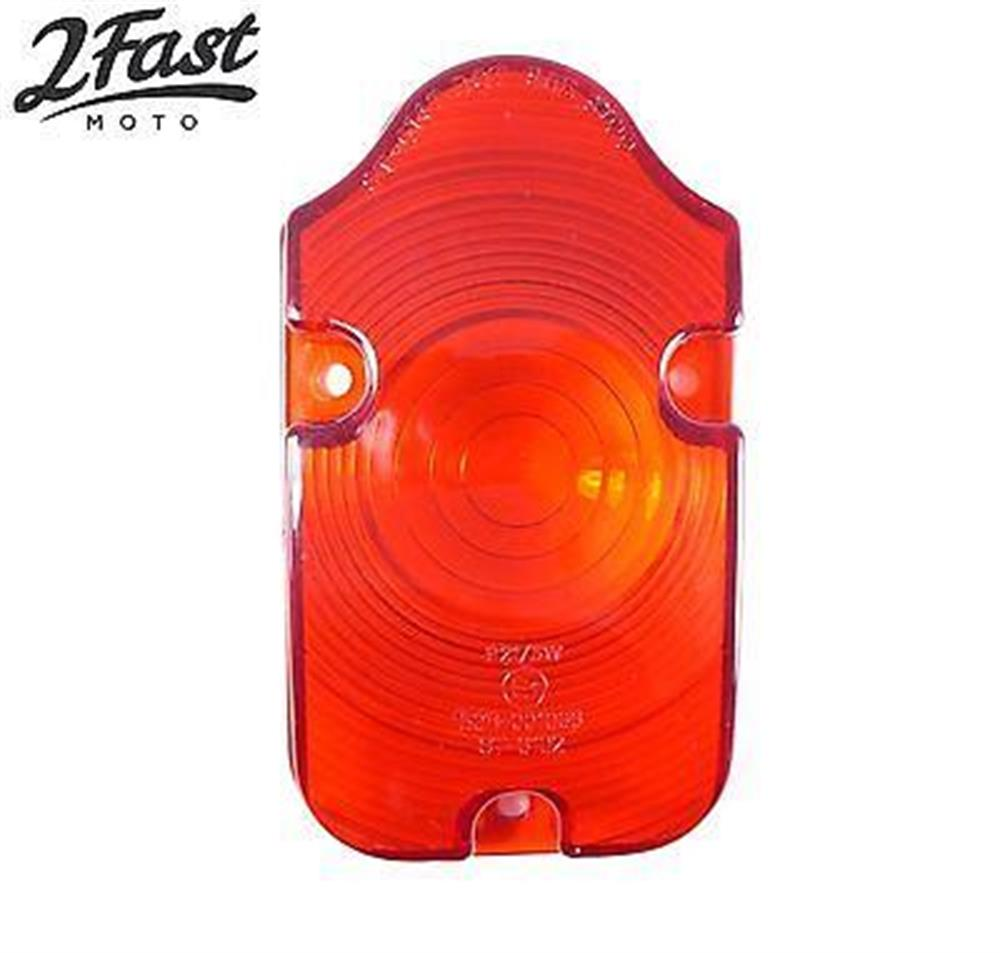 Harley Custom Tombstone Tail Light Red Lens Replacement Universal 2FastMoto NEW