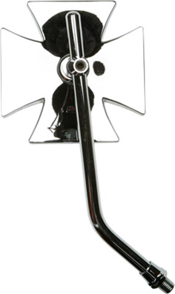 Snowmobile Side Mirrors : Fastmoto mirror maltese cross chrome glass right side
