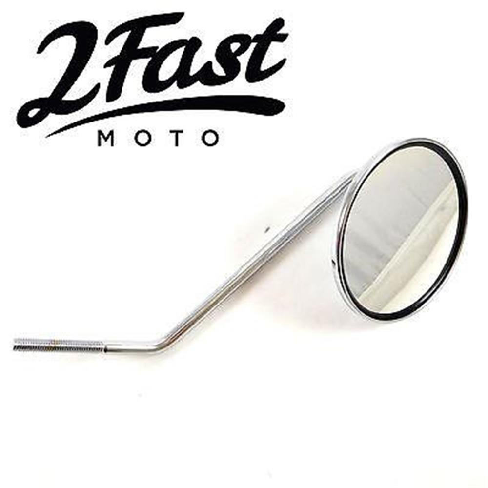 Snowmobile Side Mirrors : Fastmoto mm long stem right side mirror chopper bobber