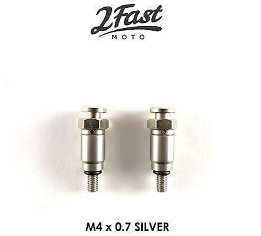 KTM Fork Air Bleeder Valves M4x0.7 Silver Adventure Duke SM Husaberg 43mm 48mm