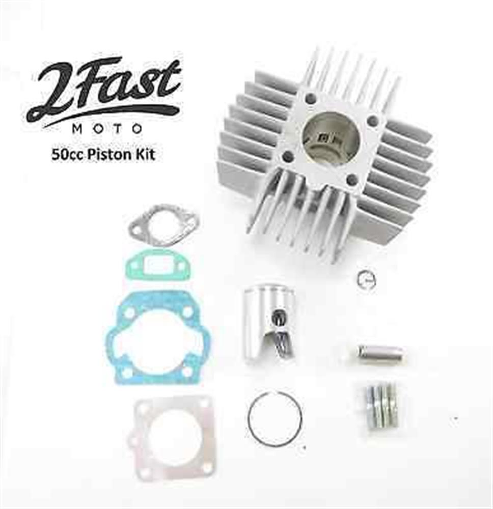 2FastMoto 50cc Cylinder Piston Kit Puch Maxi Sport Luxe Newport Magnum E50