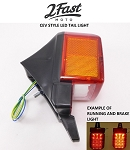 CEV Style Moped Red LED Tail Light Lamp