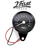 1:5 Ratio Black Tachometer 0-12000 RPM