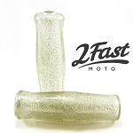 2FastMoto Clear Metalflake Vintage Coke Bottle Grip - 1