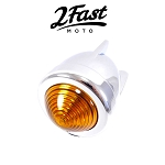 2FastMoto Custom Chrome Bullet Light 12V Zeppelin Turn Signal Marker 3 Wing