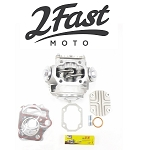 2FastMoto Honda Large Bore 50cc / Small Bore 70cc Cylinder Head COMPLETE