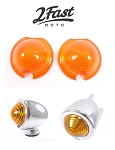 Amber Replacement Lens for Bullet Zeppelin Lights 2 PACK