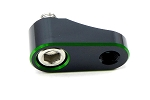 2FastMoto Motorcycle Mirror Mount Extender 10mm Mirror Holder 29mm Offset Green