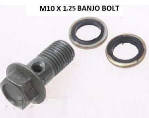 Motorcycle Banjo Disk Brake Bolt M10 x 1.25 x 22mm
