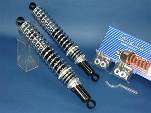 Honda Adjustable Shocks Black and Chrome Eye to Eye 405mm XL 185S 250S 500S NEW