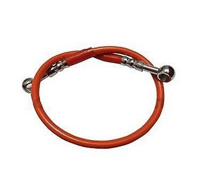 Motorcycle Brake Line Hose ORANGE Braided 20 Rear Swingarm Front Custom KAWASAKI