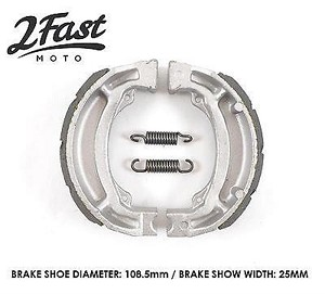 Kawasaki KLX125 Front or Rear Brake Shoes Kevlar / Carbon Grooved 2Fastmoto NEW