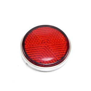 Universal Red or Amber Round Reflector (Various Finishes)