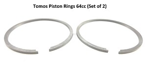 2FastMoto Moped Piston Ring Set 64CC 44MM Pair