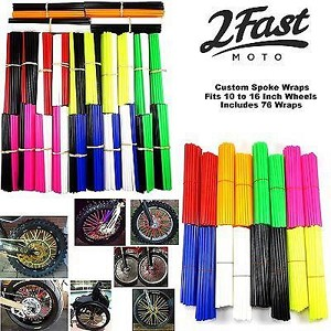 2FastMoto Spoke Wrap Kit Red White Blue Colors Skins Wraps Husqvarna Gas Gas