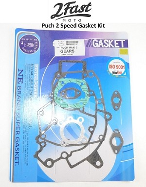 Puch 2 Speed Gasket Kit Maxi/Luxe/Newport/E50/Magnum/MK/MKII/Two Cobra